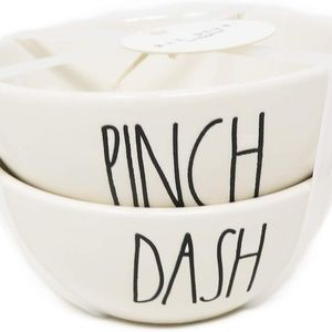 Rae Dunn PINCH & DASH Ceramic 2 Piece Set